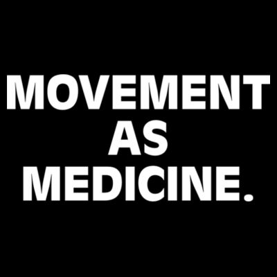 Movement As Medicine Dark - Womens Yes Racerback Singlet Design