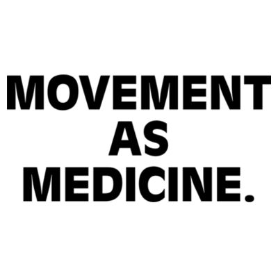 Movement as Medicine Light - Womens Yes Racerback Singlet Design